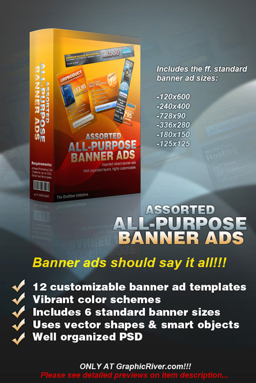 GraphicRiver - Banner Creator template PSD