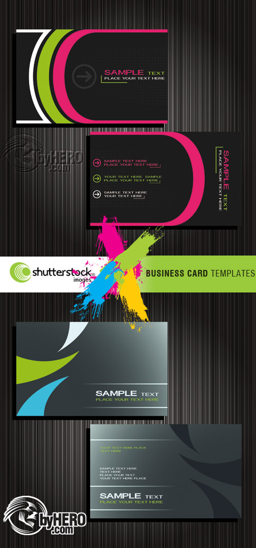 Shutterstock - Business Card Templates 2xEPS