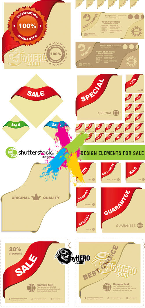 Shutterstock - Design Elements for Sale Labels EPS