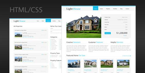ThemeForest - Light House - Clean Real Estate HTML Template