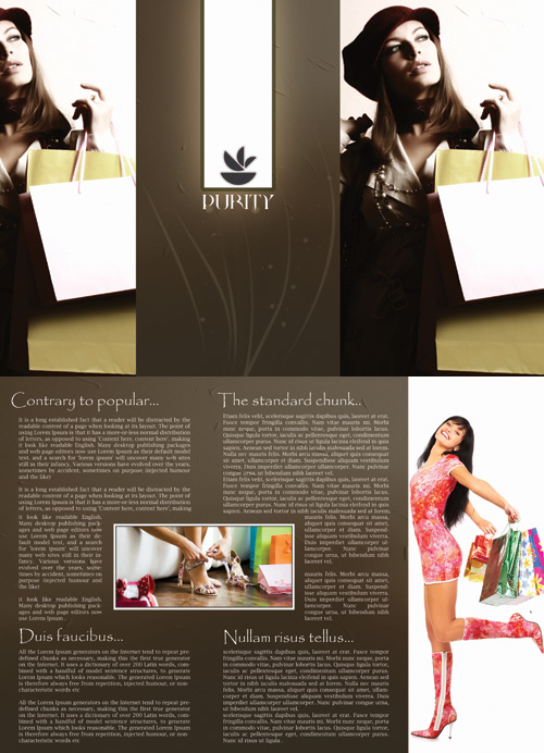 Brochure for fashion collection