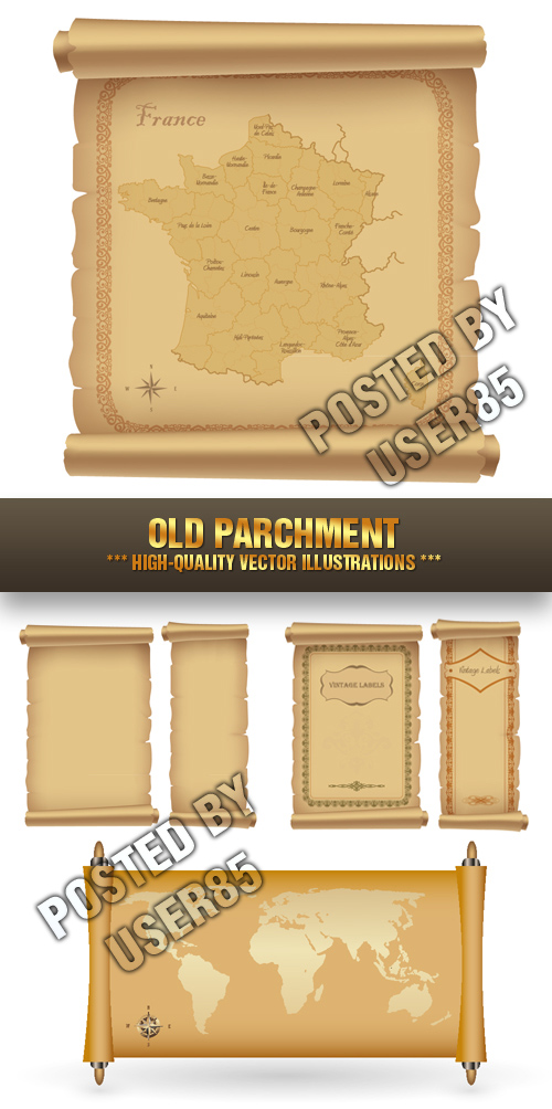 Stock Vector - Old Parchment