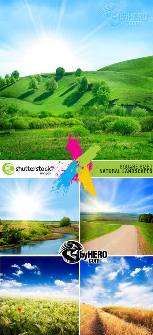 Shutterstock - Square Sized Natural Landscapes 5xJPGs