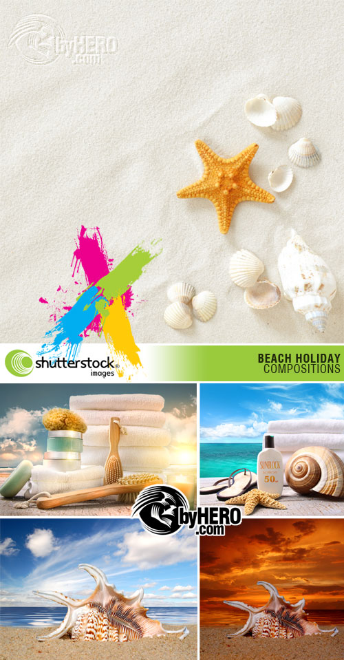 Shutterstock - Beach Holiday Compositions 5xJPGs