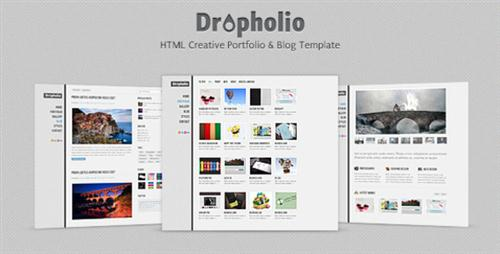 ThemeForest - Dropholio - Creative Portfolio & Blog Template