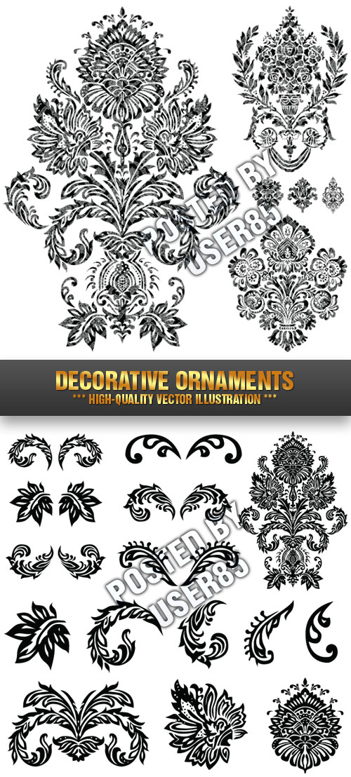 Stock Vector - Decorative Ornaments 1, 2xEPS