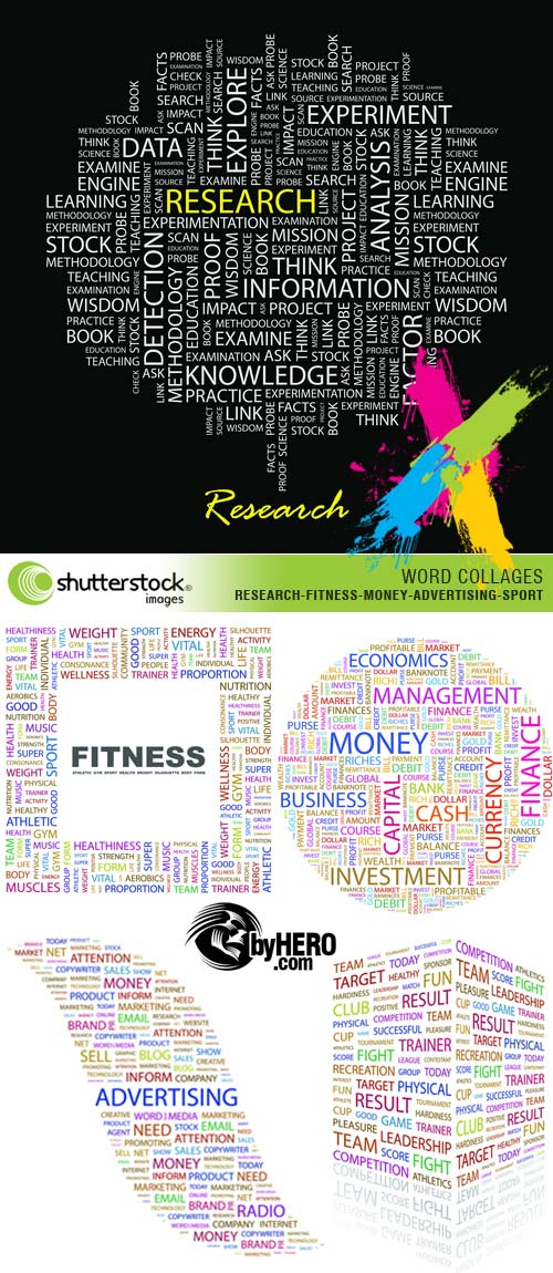 Shutterstock - Word Collages 5xEPS