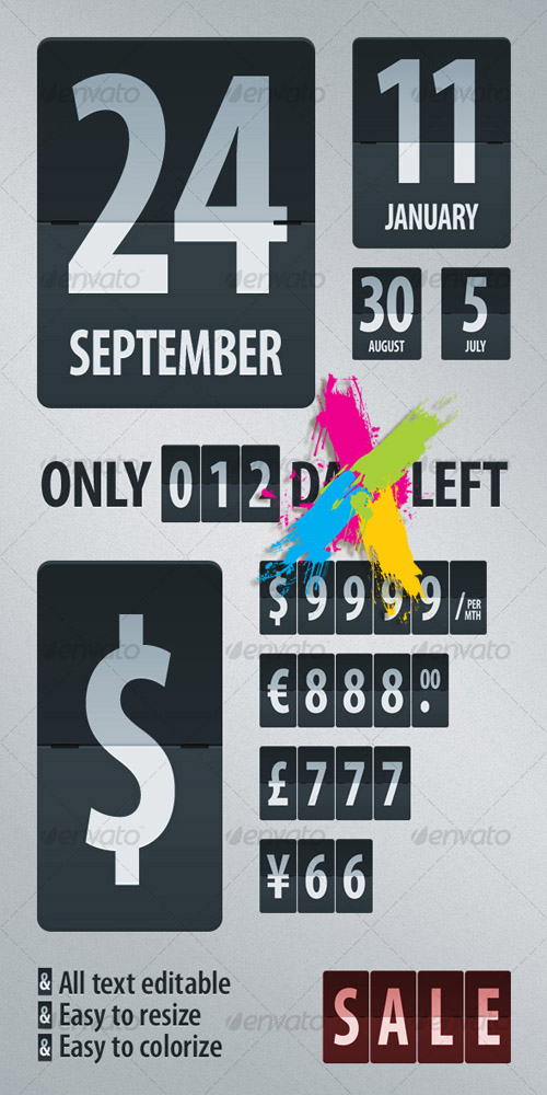 Flipping Digits – GraphicRiver