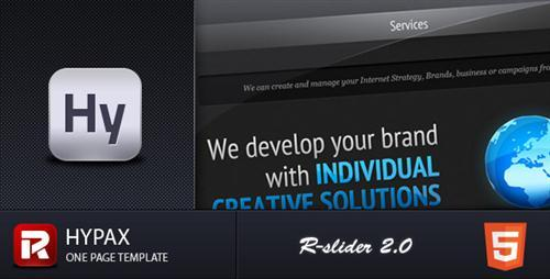 Hypax, R-slider 2.0, One Page Portfolio - ThemeForest