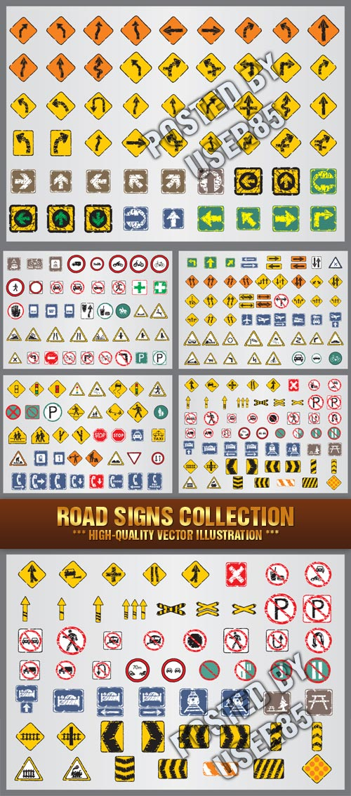 Stock Vector - Road Signs Collection