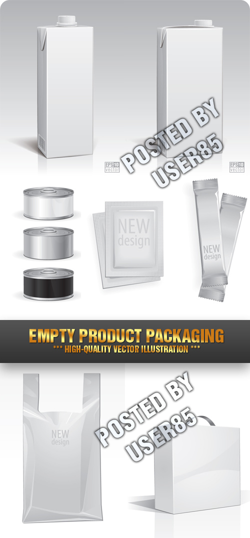 Stock Vector - Empty Product Packaging