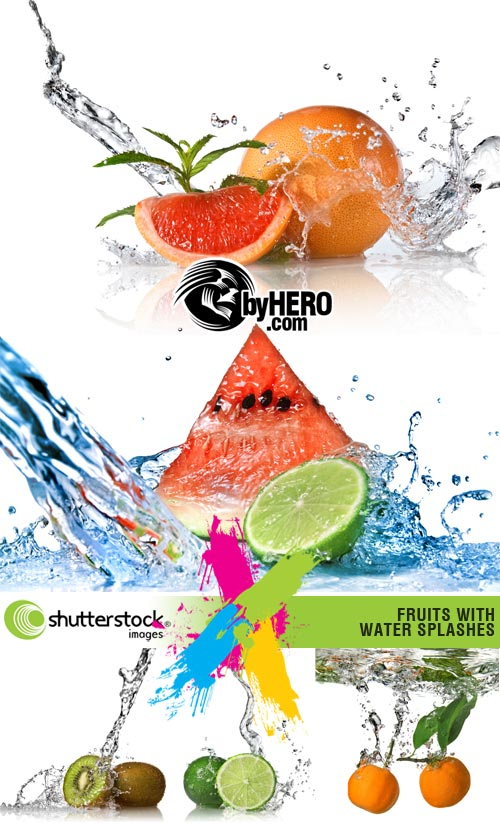 Shutterstock - Fruit and Water 5xJPGs