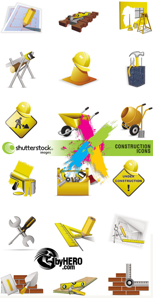 Shutterstock - Construction Icon Sets 2xEPS