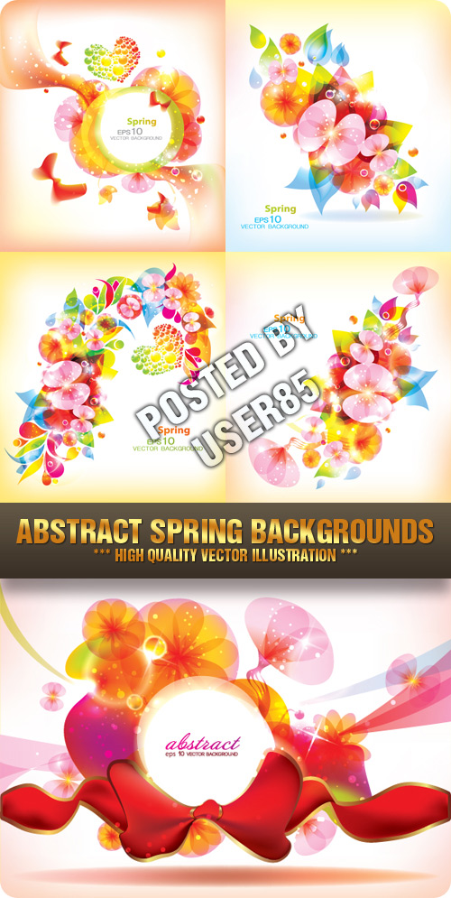 Stock Vector - Abstract Spring Backgrounds
