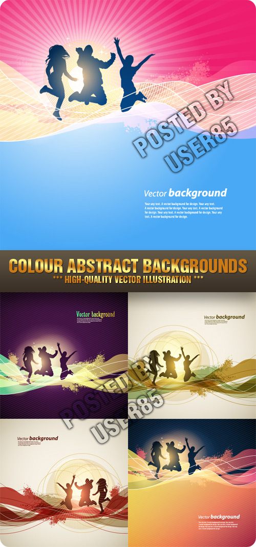 Stock Vector - Colour Abstract Backgrounds