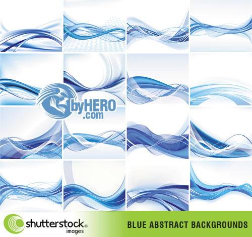 Blue Abstract Designs EPS Vector SS