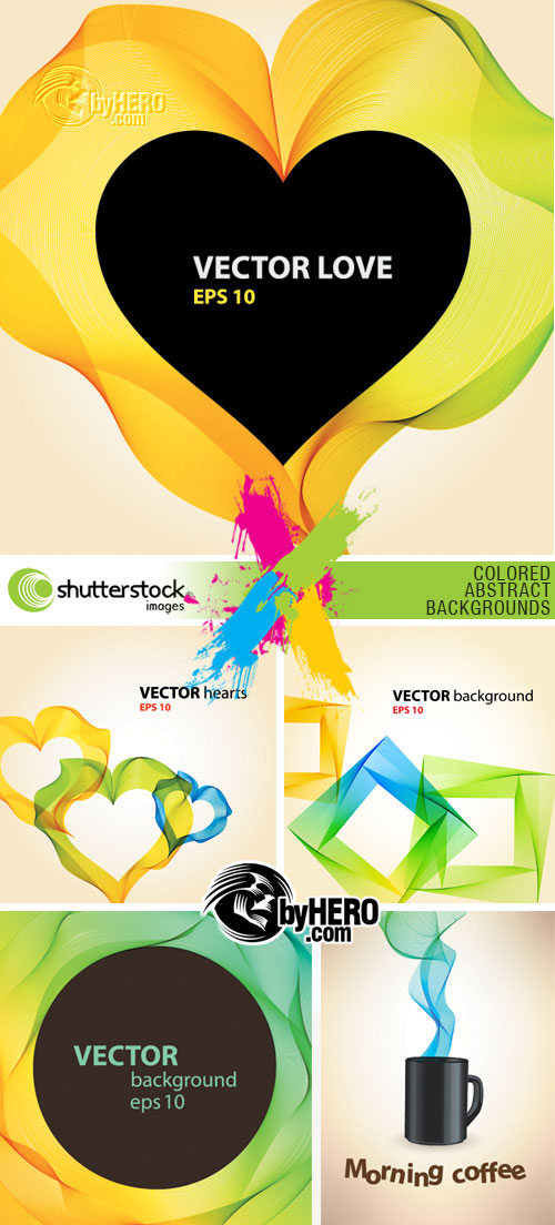 Colored Abstract Backgrounds 5xEPS Vector SS