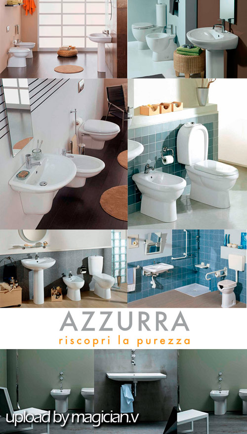 3D models of Bathroom Collection Azzurra