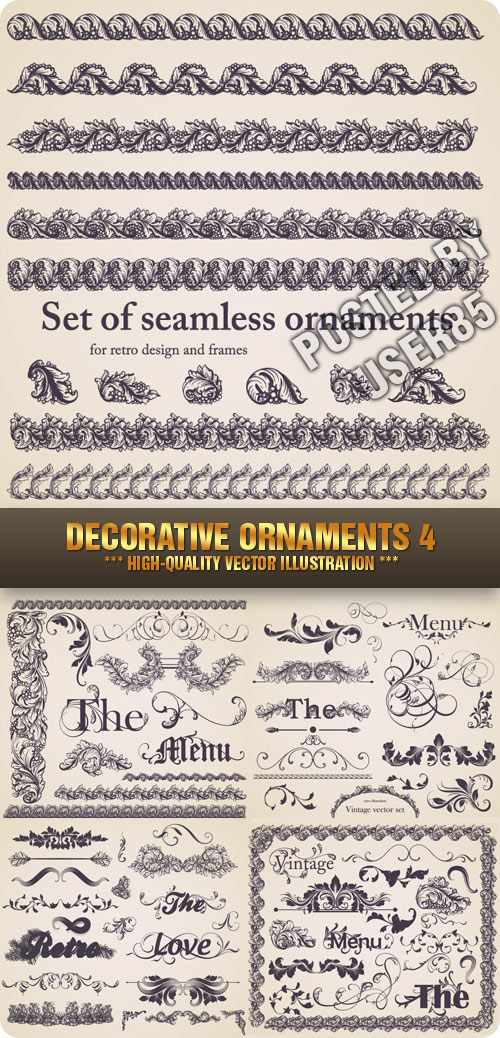 Stock Vector - Decorative Ornaments 4, 5xEPS