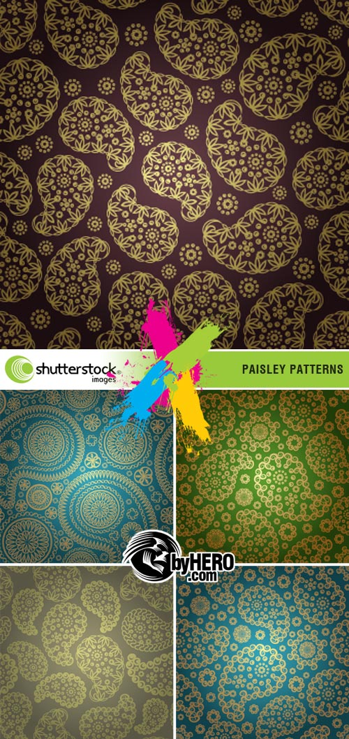 Paisley Patterns 5xEPS Vector SS
