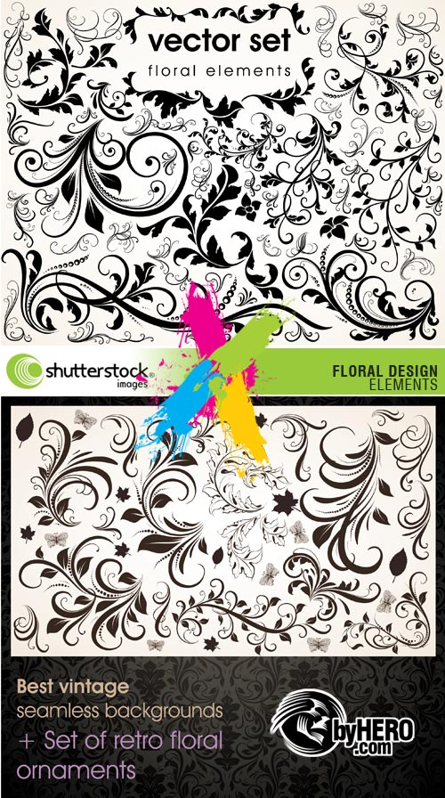 Floral Design Elements 2xEPS Vector SS