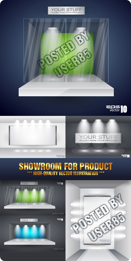 Stock Vector - Showroom for Product