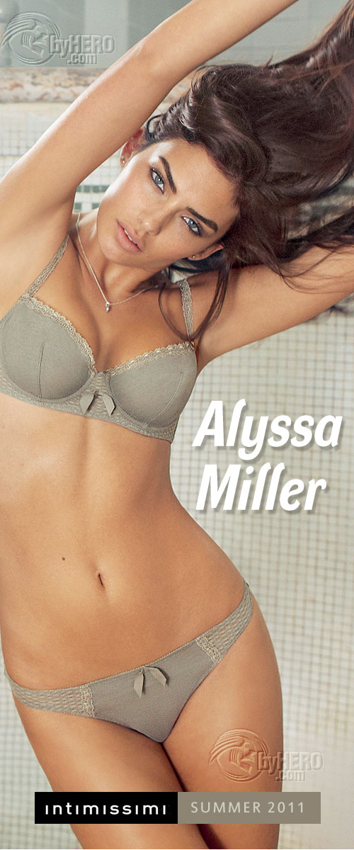 Alyssa Miller - Intimissimi Summer 2011 Collection + Video