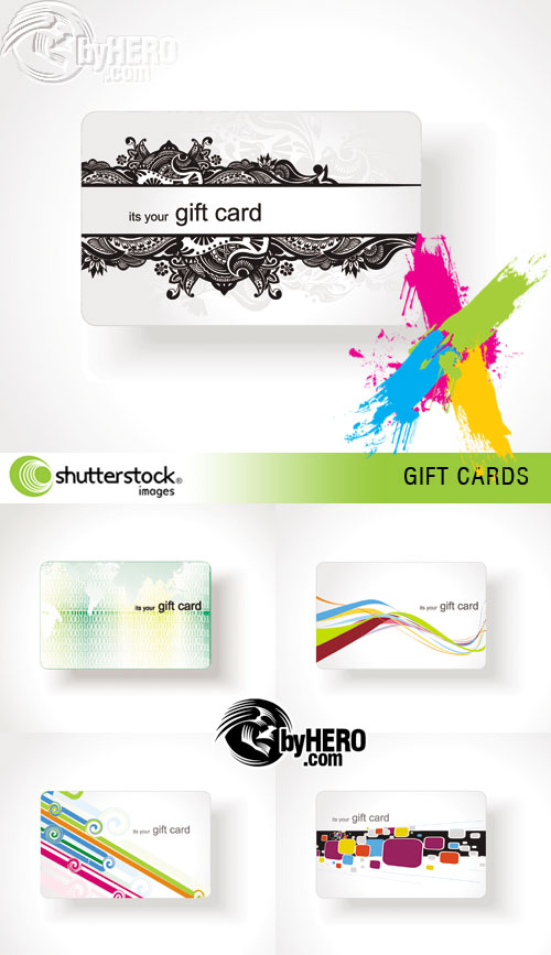 Gift Cards 5xEPS Vector SS