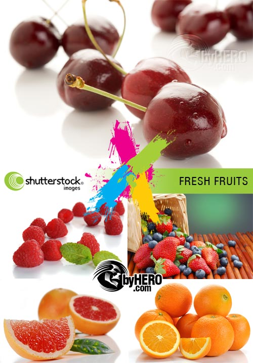 Fresh Fruits 5xJPGs Stock Image SS