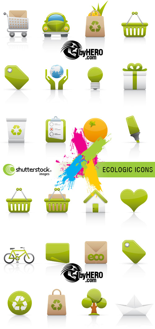 Ecologic Icons 2xEPS Vector SS