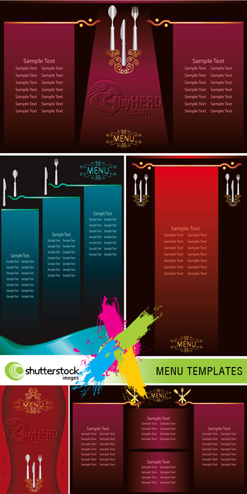 Menu Templates 5xEPS Vector SS