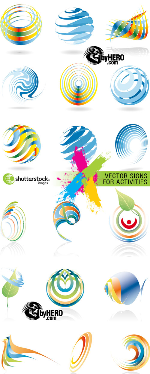 Vector Signs for Activities 2xEPS Vector SS