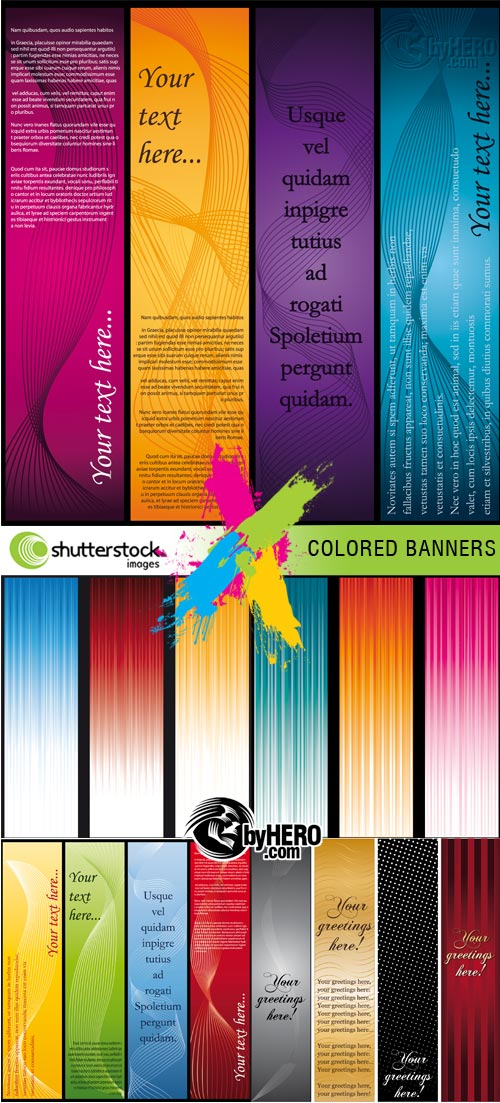 Colored Banners 5xEPS Vector SS