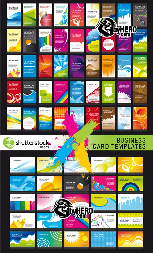 Business Card Templates 2xEPS Vector SS