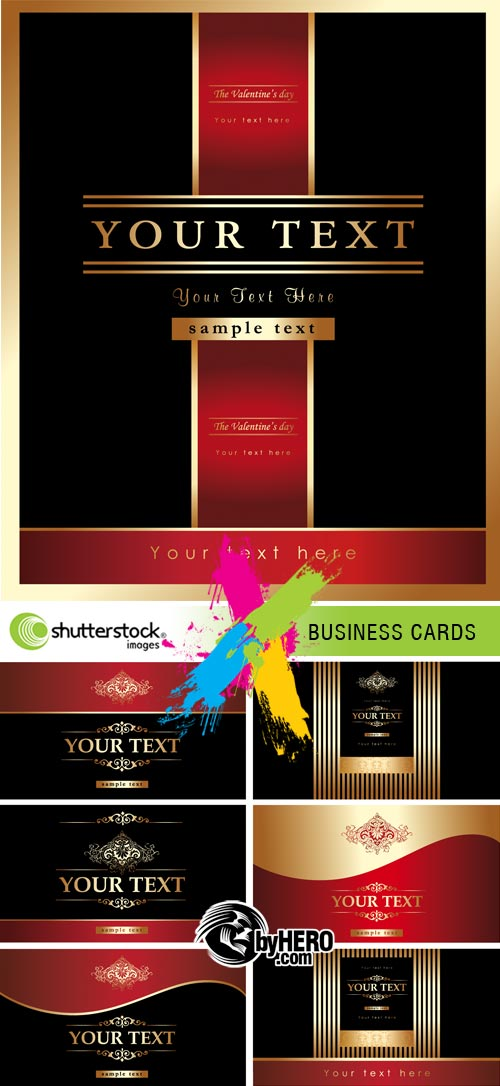 Stock Vector - Business Сard Templates 2xEPS