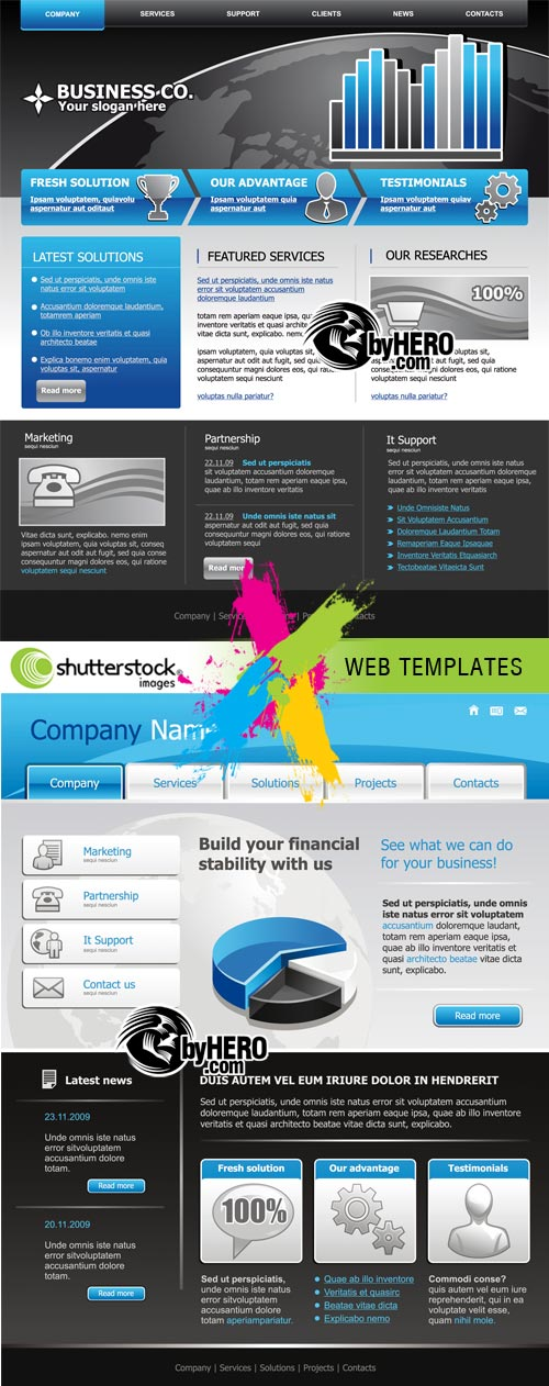 Web Templates in Vectors 2xEPS Vector SS