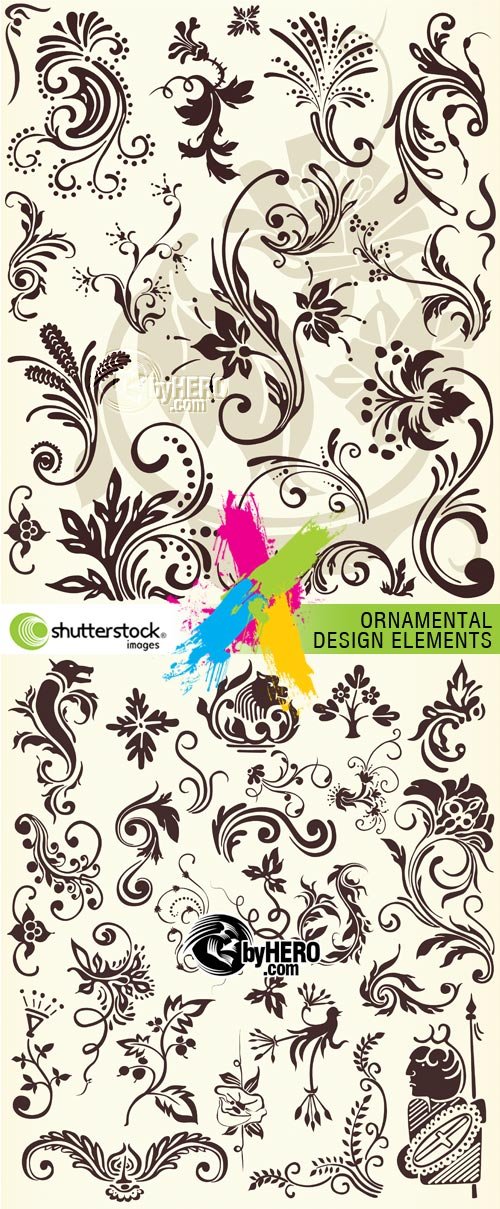 Ornamental Design Elements 2xEPS Vector SS