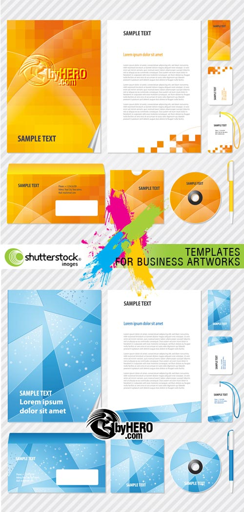 Templates for Business Artworks 2xEPS Vector SS