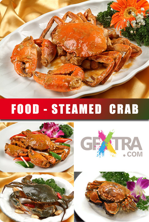 Stock Photo Steamed Crab
