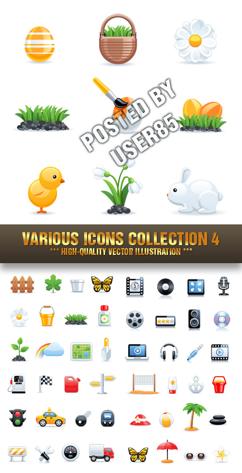 Stock Vector - Various Icons Collection 4