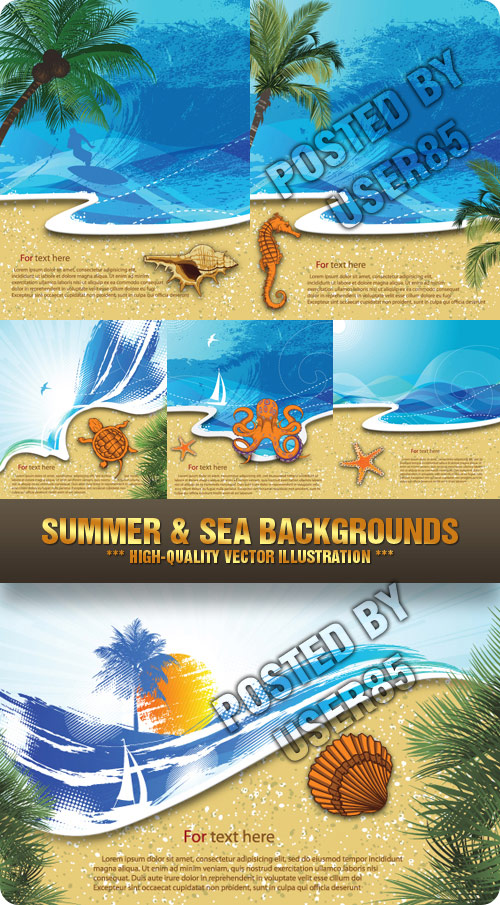 Stock Vector - Summer & Sea Backgrounds