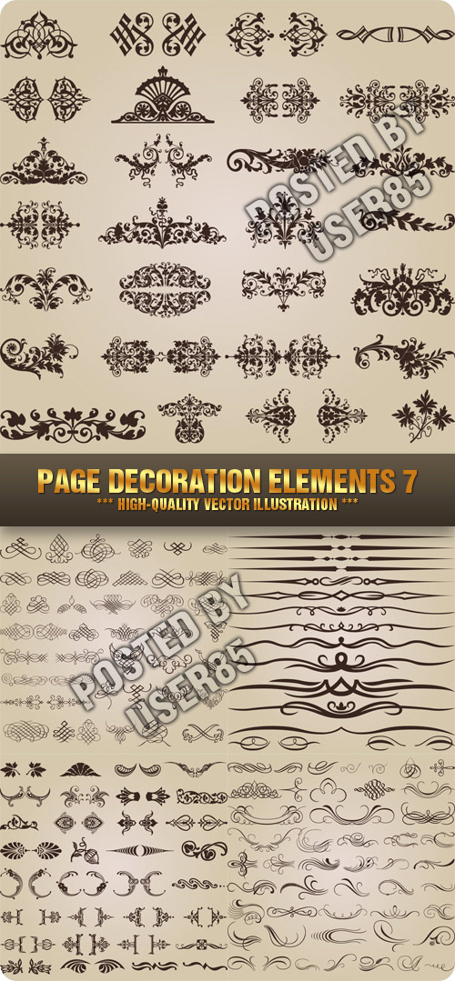 Stock Vector - Page Decoration Elements 7