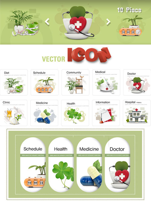 Stock Vector - Medical Icons