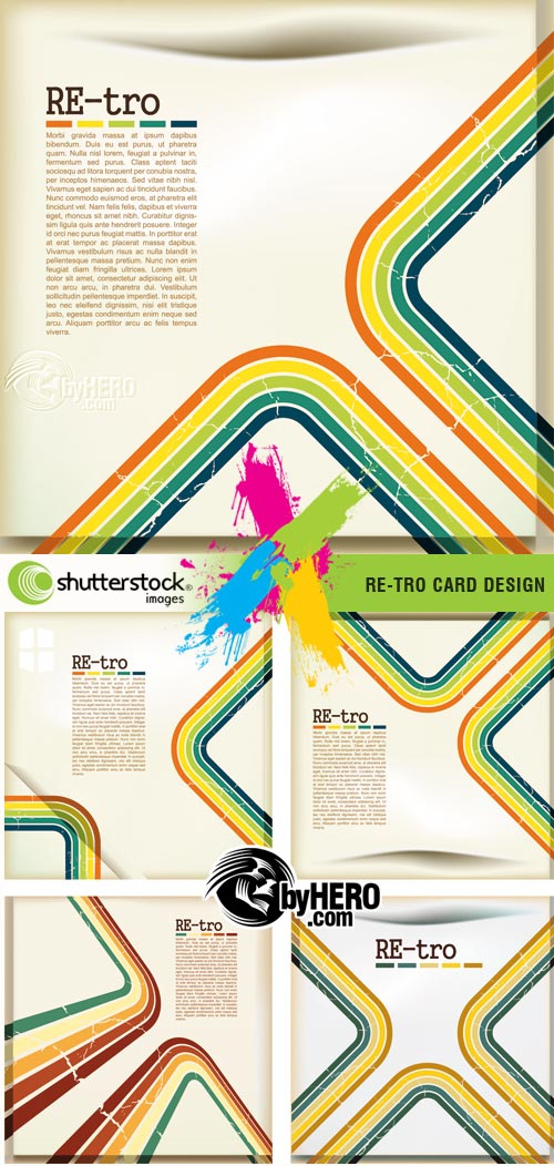 RE-tro Card Designs 2xEPS Vector SS