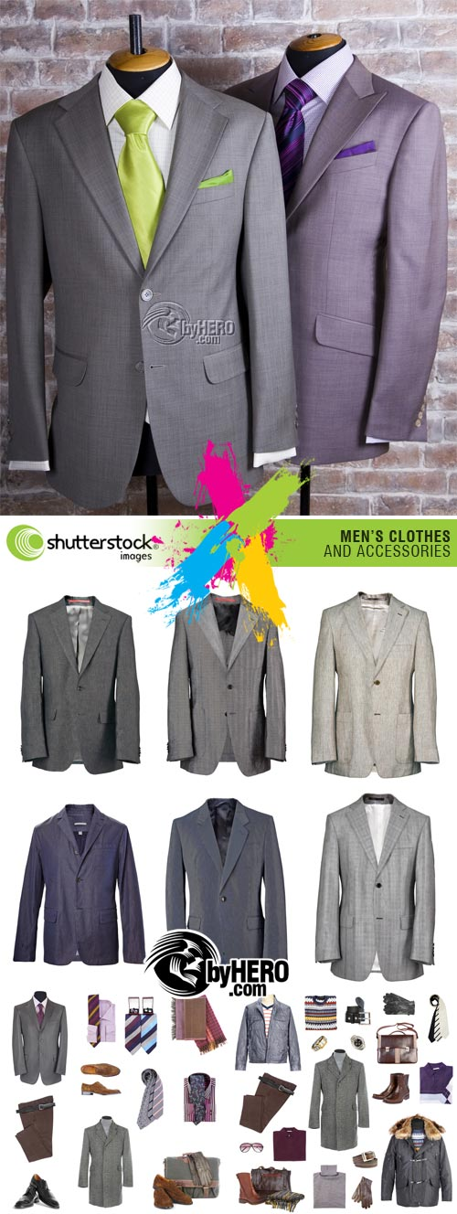 Men\'s Clothes 4xJPGs Stock Image