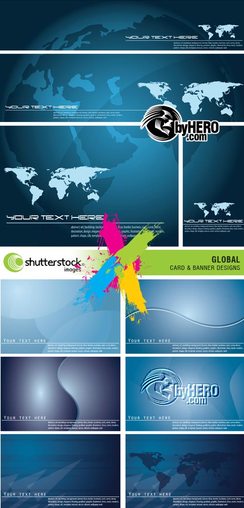 Global Card & Banner Designs 2xEPS Vector SS