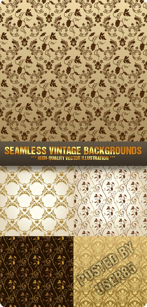 Stock Vector - Seamless Vintage Backgrounds