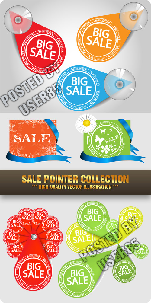 Stock Vector - Sale Pointer Collection