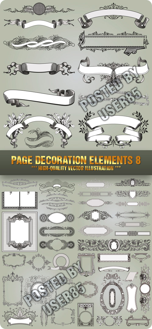 Stock Vector - Page Decoration Elements 8