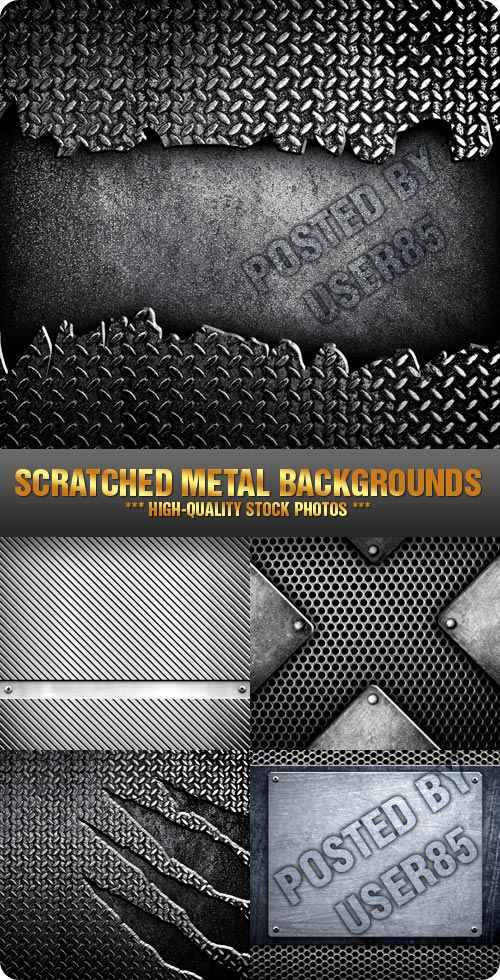Stock Photo - Scratched Metal Backgrounds